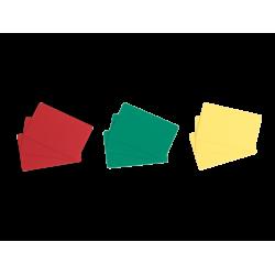 lot de 100 cartes Evolis jaunes, rouges, vertes