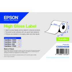 Étiquettes C3500 High Gloss Label continu