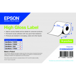 Étiquettes C3500 High Gloss Label continu